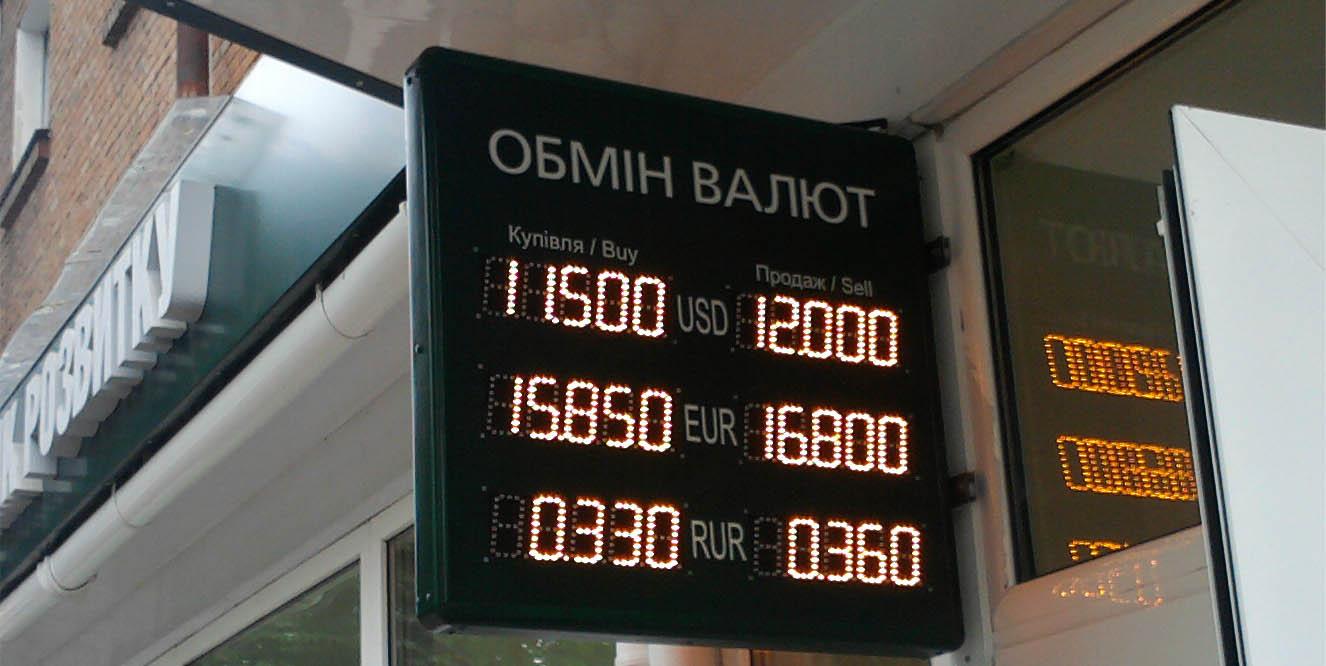 табло оьмена валют